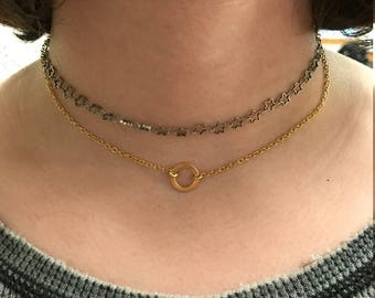 Gold-Filled Chain with Gold Circle | Gold-Filled Choker