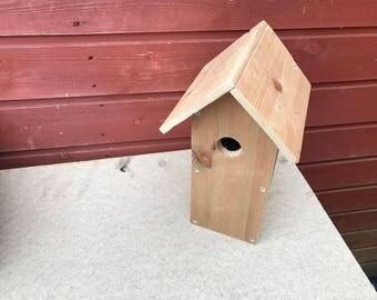 Handmade Plain wood bird house