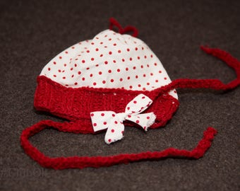 """Designer Hat, banner and shawl """"Little Red Riding Hood"""""""