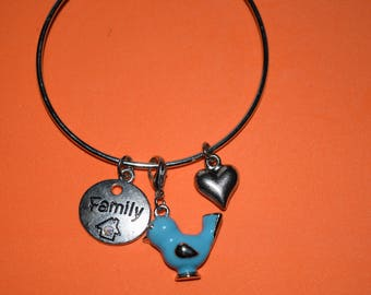 "Charm ""Family"" bracelet small sparkly gift bag included"