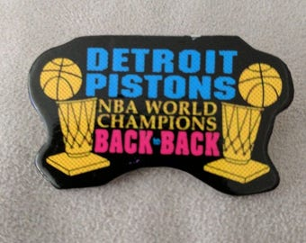 Detroit Pistons Bad Boys Back to Back Championship Pin