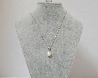 Sterling Silver and Fresh Water Pearl Necklace