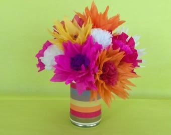 Fiesta Paper Flower Bouquet