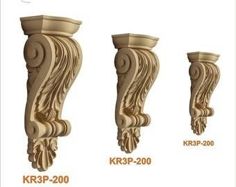 Wood pulp decorative capitelli KR3P150