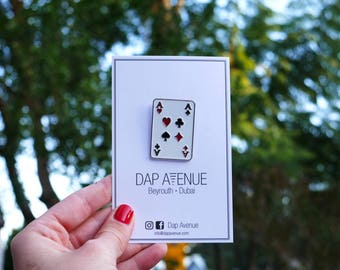 Ace Card Enamel Pin - DAP Avenue