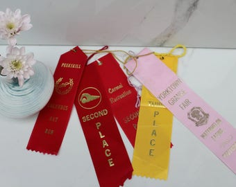 Vintage Award Ribbons Assortment