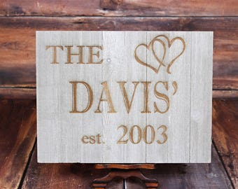 Laser Engraved Family Sign