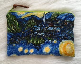 Shimmer Pouch. Starry Night.