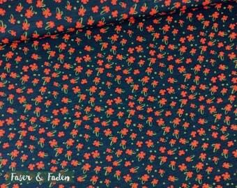 Modal poppy - flowers flowers - petrol Red