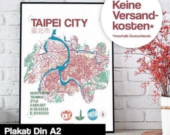 Poster - Taipei map