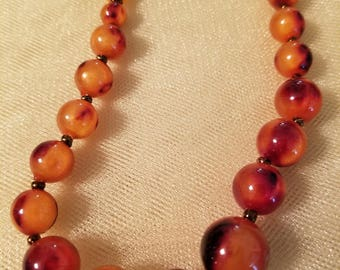 Warm color beaded necklace