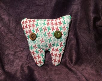 Red & Green Handmade Tooth Fairy Pillow
