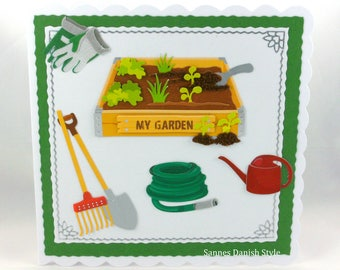 Greeting card for garden fans