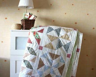 Quilt, cotton blanket, modern quilt, homemade quilt, summer quilt
