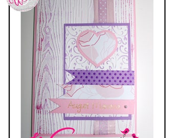 Greeting cards with writing with pen plotter glitter gels