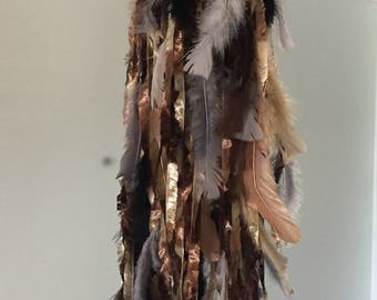 Feathered Dream Catcher - Brown