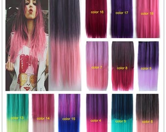 Hair extensions synthetic hair- Hight quality- 100gr - 22 inch (55cm)
