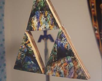 Legend of Zelda Triforce: Recycled Skateboard Art