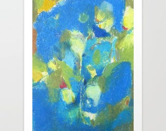 Abstract drawing of kalanchoe plant - giclèe art print