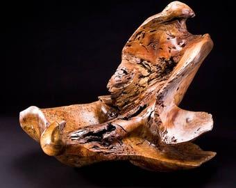 That's Mine. wood sculpture