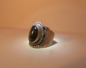 Vintage dark gem ring