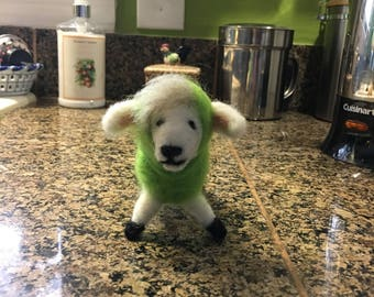 Lewis the Lamb, Needle Felted, Made to order