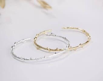 Thornbush Cuff Bracelet Gold / Silver