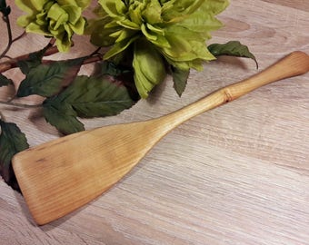 Wooden Spatula Made From Birch Tree ; Handcrafted