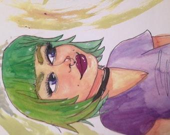 alternative girl in green