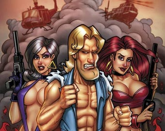 SIGNED! AmeriKarate Issue #1: Limited Edition Variant Cover By Bill McKay