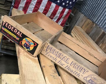 Federal Fruit Crate
