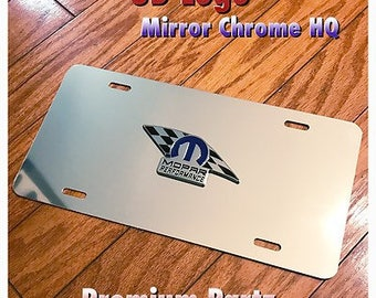 Dodge Mopar Performance Ram Custom  Aluminum Thin License Plate 3D 1500 2500 3500 Challenger Charger SRT8