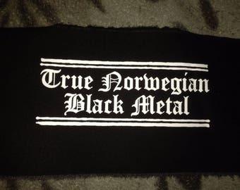 True Norwegian Black Metal Black Canvas Patch