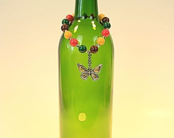 Beautiful butterfly and gumball bead incense burner