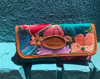 Rose mix huipil wallet