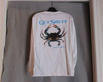 Get Salty Crab Print Long sleeve