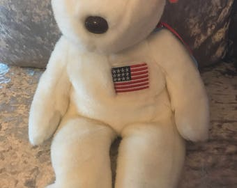 Original TY Libearty beanie baby collectors bear