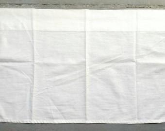 Minimalist Textured White Cotton Café Curtain. Small White Window Curtain.