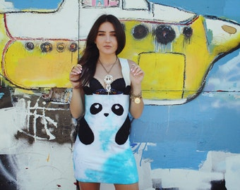 New York Couture *Limited Edition* Hand Dyed PINK or Blue Panda Dress
