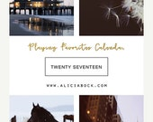 HOLIDAY SALE 2017 Calendar - Playing Favorites - Fine Art Calendar - Inspiration - Alicia Bock - Horse - Sea - Flower Art - Lighthouse - Bik
