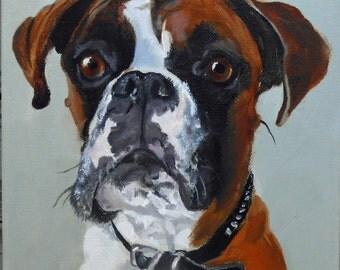 Custom Pet Portrait for Christmas Gift Giving for the Dog Lover, Custom Oil Painting, dog or cat Gift Certificate