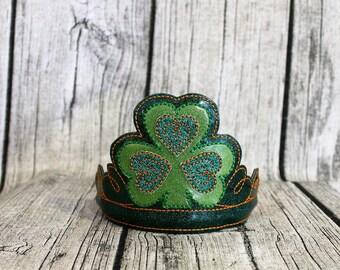 Shamrock Headband, Shamrock Crown, St. Patrick's Day Crown, St. Paddy's Day Crown, Saint Patrick Day's Crown, St. Patrick's Day Headband