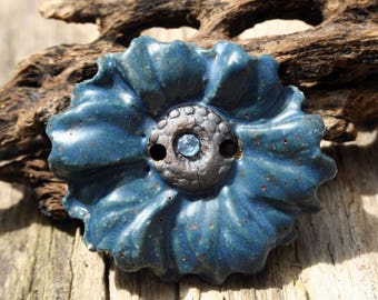 Handmade Ceramic  Button