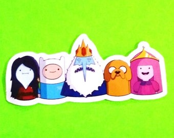 Adventure Time Finn the Human Mertens Jake Dog Princess Bubblegum Ice King Lemongrabs Beemo Marceline Cartoon Network Sticker More Styles