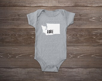 Washington Love Baby Onesie