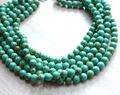 The Alana- Green Turquoise Howlite Statement Necklace