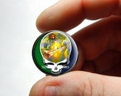 Glass Cabochon - Grateful Dead Steal Face Head Design 19 - for Jewelry and Pendant Making