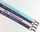 Lanyard with ID Holder, Personalized Lanyard, Key Lanyard, Cute Lanyard, monogrammed lanyard, nurse lanyard, CNA lanyard, RN lanyard