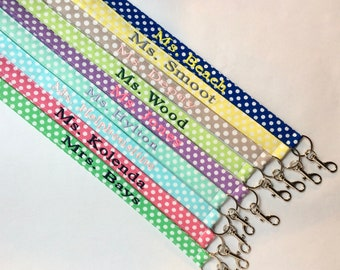 Teacher Gift, Lanyard for Teacher, ID Lanyard, Teacher Lanyards, Lanyards, Graduate Lanyard, Graduation Gift, Personalized Lanyards, Lanyard