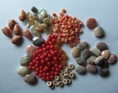 DESTASH - Gemstones - Moonstone - Bamboo - Jade - Aventurine - Agate - Vintage Lucite- Jewelry Supplies